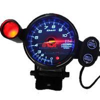 10pcs 80mm Tachometer Car RPM Tachometer Racing Defi Race Meter Auto Gauge with led