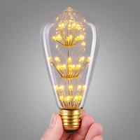 3W 110V,220V E27 LED Bulb Edison Vintage Personality Screw-Mount Lighting Free Shipping