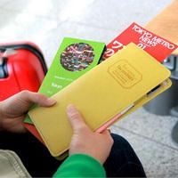 1pc/lot Korean Long Passport Documents Bag Multi-functional Travel Storage Bag Passport Holder For Women 840040