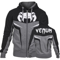 "VENUM ""SHOCKWAVE 3.0"" HOODY - GREY/BLACK MMA training fight  HOODIE"