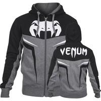 """VENUM """"SHOCKWAVE 3.0"""" HOODY - GREY/BLACK MMA training fight  HOODIE"""
