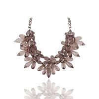 Brand New Design Fashion Charm Geometric shiny Crystal Statement Necklace Women Bib Choker necklace jewelry for women 2014 PT33