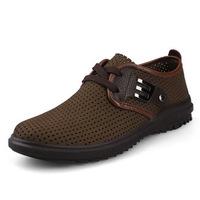 Size37-47 Black+Khaki+Orange Lace-Up men genuine leather single shoes moccasins leather shoes