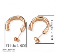 wholesale Gold plated stud earrings fashion Jewelry  1339