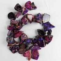 Q0877 Free Shopping Beautiful Trendy Sea Sediment Jasper loose bead 1 strip