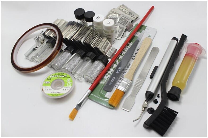 133pcs Direct Heating Metal Template BGA Reballing Stencil Kit + Reballing Holder Jig Repair Tool(China (Mainland))