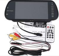 Car Monitor 7 Color TFT LCD Car Rearview Mirror Monitor SD USB MP5 FM Transmitter Car video,free shiping