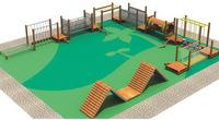 kids outdoor wood adventure playground equipment