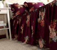 Luxury Purple Floral Bedding Set Romantic Korean Ruffled Duvet Cover Set  Queen Size Korean Floral Bedding Set