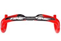 700C Time full carbon fiber road bike handlebar red / black bicycle bar