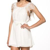 Honey moda women summer dress vestido chiffon casual stitching slash neck white lace sleeveless beach dress plus size