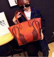 hot sale 2014 fashion Day purse wallet women handbag rivet desigual vintage bag pu leather shoulder messenger bags