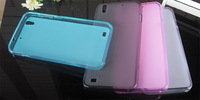 35 PCS/LOT Presium Semi Transparent TPU Pudding Case For ZTE U969 V969,Matte Design Case,4 Colors,Free Shipping
