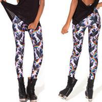 2014 New Fashion Sexy Black Milk 3D Printed Leggings Womens Unicorn Animal Jeggings Skinny Pencil Pants L48