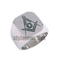Free shipping! Masonic Ring Stainless Steel Jewelry Freemasonry Masonic Ring SWR0009