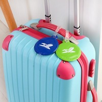 New Creative Nice  Soft Pu Travel Checked Card Luggage Tag Free Shipping(6 colors/lot)
