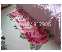 bedroom carpet 4 Rose Carpet Floor Mat Handmade Rug Anti-slip Modern Carpet Kitchen Area Rugs,rose Shaped Rugs