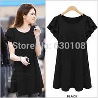 M-5XL 2014 New Summer High Quality Vestidos Women Clothing Casual Dresses Plus Size Slim Large size short sleeve dress