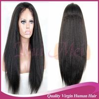 Cheap Italian Yaki Glueless Brazilian Virgin Kinky Straight Lace Front Wigs/full lace human hair wigs/u part wig For Black Women