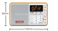 High quality Tecsun Q3 Q-3 portable mini radio receiver recorder/digital audio MP3 player FM 64-108 with TF