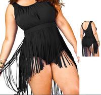 Ladies Fringe  Bandeau Bikini Sexy Women Bikini Swimwear Padded Boho Fringe Tassels Real Class Swimsuit