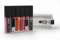 Free shipping Newest LED light Minerals Lip gloss Lipsticks Lipgloss Shine Makeup Matte Colored Lip Stick gloss 6 colors