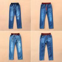 Retails 2014 NEW KK-Rabbit brand Children pants thick winter warm cashmere kids pants boys/girls winter jeans 3-7 y