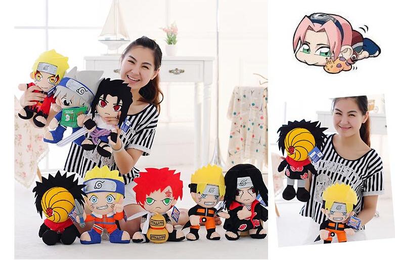 "Free ShippingPlush Anime Naruto Uzumaki Naruto Plush Toy Cosplay Costume Soft Stuffed cute Doll Gift 12"" Christmas gift(China (Mainland))"