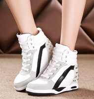 2014 winter shoes women sneakers warm plush sneakers for women sports shoes casual shoes high-top sneakers