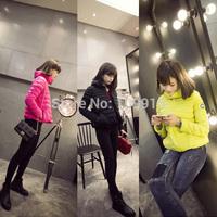 Brand newWinter Womens Stand Collar Outerwear Long Sleeve Coat Cotton Short Jacket