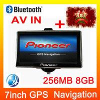 7inch Car gps Bluetooth DDR3 256M+8GB 800MHz gps Navigation For Russia\Ukraine\Belarus\Israel\Czech\Argentina\ Brazil map