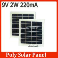 8pcs 9V 2W 135mm*125mm Glass Laminated Polycrystalline Silicon Solar Cell,Solar Panel DIY Poly solar panel