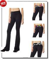 Fashion Print Waist Falared Trousers Women Yoga Pants Latin Dancing Pants Slim Elastic Waist Free Shipping XL