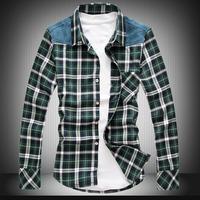 Free shipping famous brand plus size XXL XXXL 4xl 5xl 6xl 8xl mens casual shirts plaid plaid men shirts men shirt long sleeve