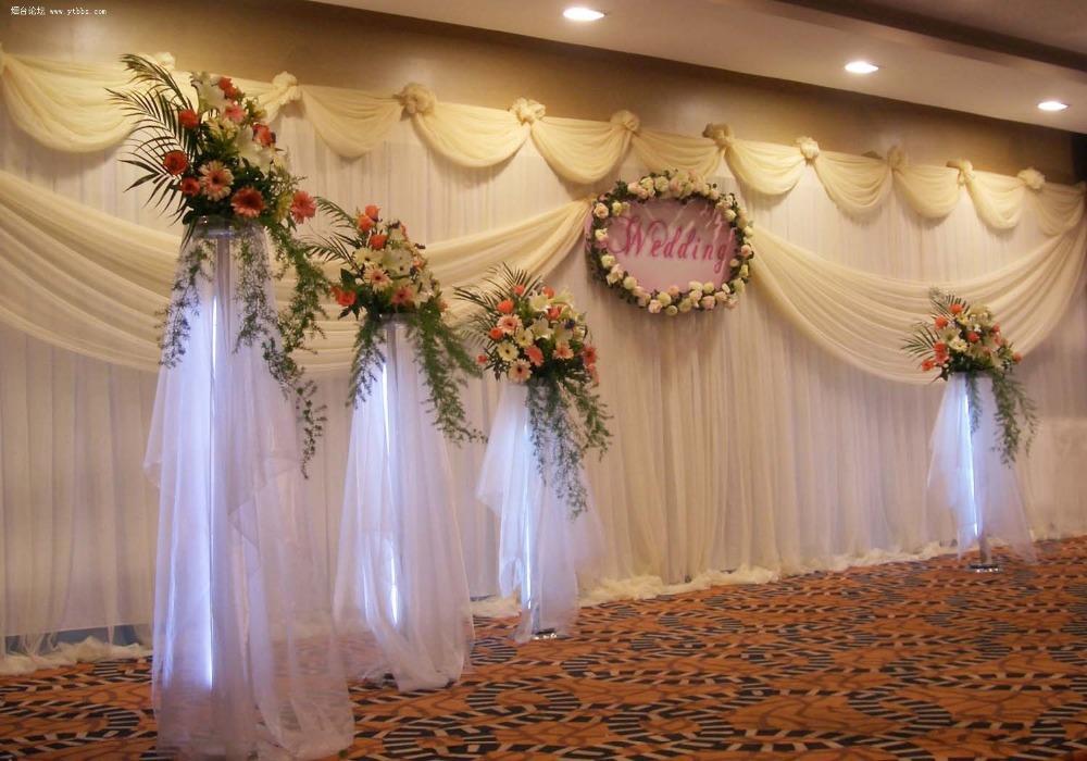 Beautiful White Wedding Backdrop \Wedding Curtain 3M/10ft*6M/20ft(China (Mainland))