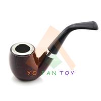 Retro Tobacco Pipe Plastic Black+Red Wood Pattern Cigarette Filter Smoking Pipe Cigarette Holder #801