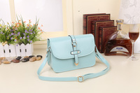 Direct selling 2014 new candy colored Handbag Shoulder Bag Messenger Bag Shaping College wind package PU