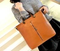 Hot sale 2014 new Korean fashion PU leather laptop shoulder Crossbody handbags wholesale Ladies large capacity Messenger bags
