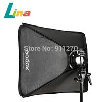 Godox  S-Type Speedlite Bracket Bowens Mount Flash Holder + 80x 80cm Handy Softbox +Bag