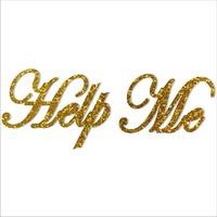 Popular glitter Shoe Sticker for Wedding Shoes - Help Me gold Shoe Sticker