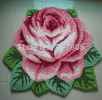 1 Rose Carpet Bathroom Floor Mat Handmade Rug Anti-slip Modern Carpet rose Shaped Rugs  Kitchen Area Rugs,flower