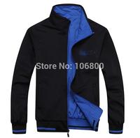 hot 2014 new men's winter fashion sports wear jackets double collar men's coat, full size, free shipping!