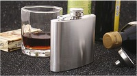 FEDEX FREE SHIPPING! 170PCS/LOT Male hip flask hip flask portable 6OZ stainless steel hip flask WITH RETAIL BOX