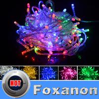 Foxanon Brand String Lights RGB 220V 10M 100LED Lamps Christmas Light Wedding Party Decorations Garland Lighting