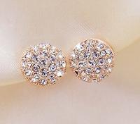 New Round Earrings Full Rhinestones Heart Earrings Earrings For Women