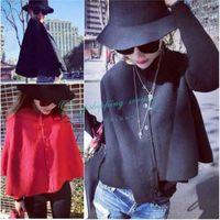 Temperament Solid Thin Section Wool Cloak Coat Women Coat Winter Coat Women Overcoat Free Shipping