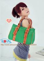 BB001 2014 New 5 colors ladies canvas women handbags promotion,Fashion shoulder bag,casual school briefcase bag classic