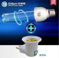 220v 15w E27 Ultraviolet Lamp UVC light bulb with lamp base