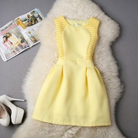 female Spring Autumn slim plus size tank dress solid color small dress