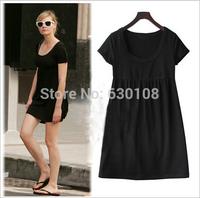S-5XL 2014 New Summer High Quality Vestidos Women Clothing Casual Dresses Plus Size Slim Add fertilizer to increase Dress